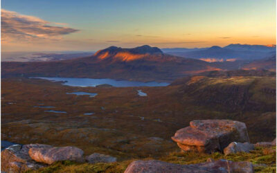 Sunset over Assynt (Quinag)